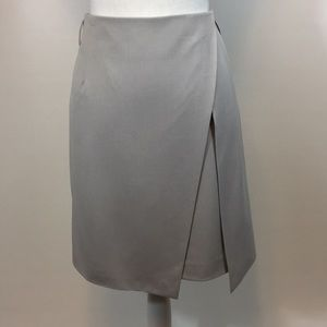 Chelsea+Amanda Fully Lined Faux Wrap Skirt